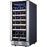 STAIGIS Refrigerador de vino – Enfriador de vino de 15 pulgadas con marco de...