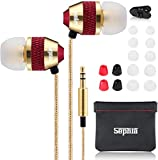 Sephia SP1050 Noise Isolating Earphones, Earbuds, in Ear Headphones, Strong Bass Driven Sound, Wired Earphone Compatible with iPhone, iPad, Tablets, Samsung, Sony, Huawei and Other Android Smartphones