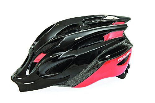 Raleigh Unisex's Mission Evo Cycle Helmet, Black/Red, Large