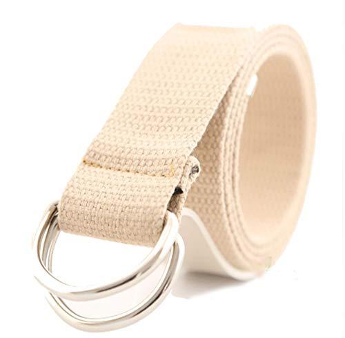 BOLAWOO-77 Cinturón De Tela Cinturón Mujer Para Lona De Con Mode De Marca Doble Hebilla Hombres Hombres Y Mujeres Modelos Universales Cinturón Ancho Cinturón Ancho