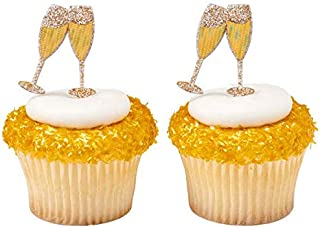 Champagne Toast Cupcake Picks - 24 pc