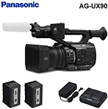 Panasonic AG-UX90 4K/HD Handheld Camcorder Accessory Kit with Extra Battery Pack