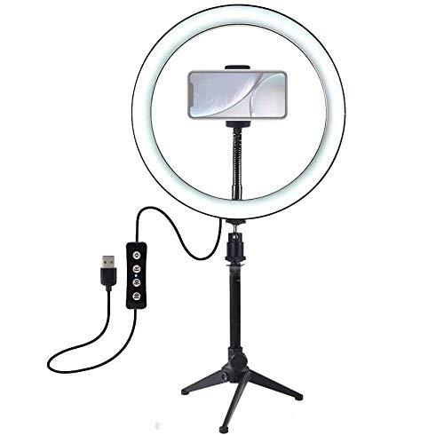 Anillo De Luz Regulable, Anillo De Luz Led De 10 Pulgadas, con Trípode, 3 Modos De Iluminación, para Maquillaje, Fotografía, Selfies Y Videos De Youtube