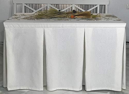 INUSUAL Ropa de Camilla Rectangular Primavera Verano Modelo Elvira 120X70X72 y a Medida (MARFIL2)