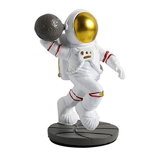 DFJU Estátuas de Astronauta Escultura de Astronauta Decoração de Mesa Ornamento de estatueta para casa (Cor: A)