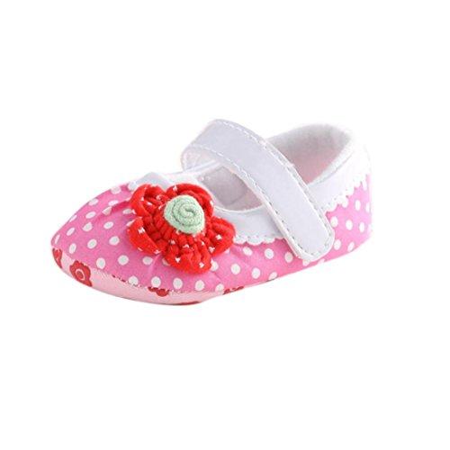 kingko® Bébé infantile Enfants Fille douce Sole Lit enfant nouveau-né Chaussures (0~6 mois)