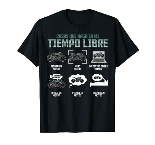 Regalo Motero Biker Me Gustan las Motos Motociclismo Camiseta