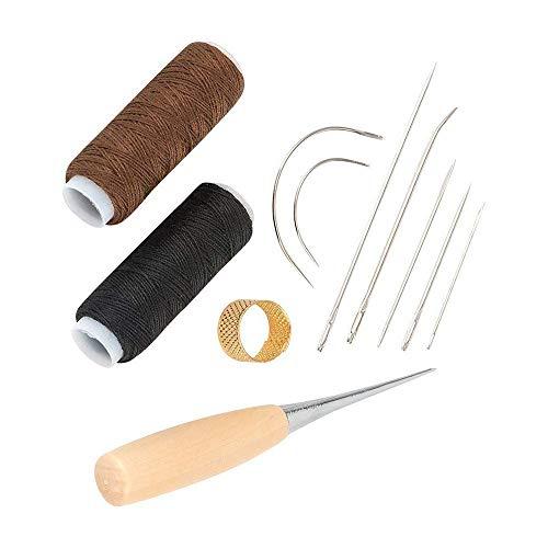 LKY Kit de reparación de tapicería, Rollos de Hilo de tapicería (150 Yardas con un Kit de Agujas de Coser a Mano Surtidas y Resistentes)