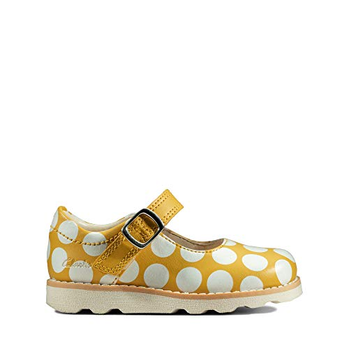 Clarks Crown Jump T, Ballerine Bambina, Giallo (Yellow Interest Yellow Interest), 24 EU
