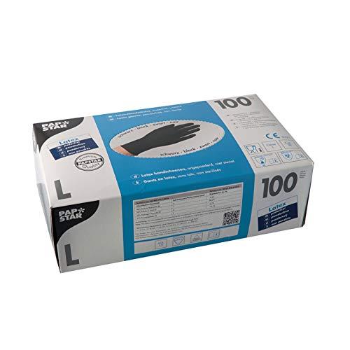 1.000 Handschuhe Latex puderfrei schwarz Größe L chloriniert