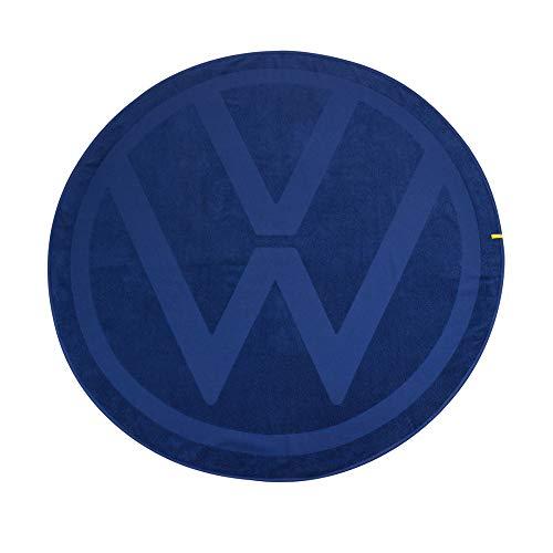 Volkswagen 5H0084500 Badetuch rund Handtuch Strandtuch Logo, blau
