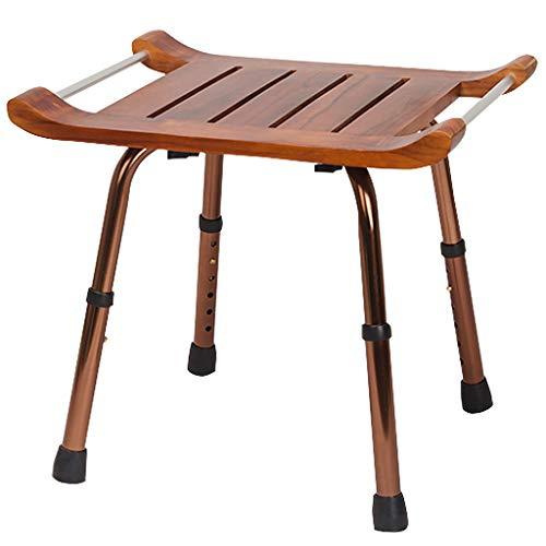 Best Bargain XingKunBMshop Shower Chair Wooden Bath Chair with Aluminum Frame Foldable Bathroom Bath...