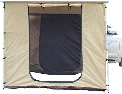 DANCHEL OUTDOOR 420D Oxford Offroad Side Awning with Changing Room for Car Roof Top Tent (Khaki, 8.3x10ft)