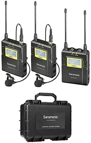 Saramonic UwMIC9 96 Channel Digital UHF Wireless Dual Lavalier Microphone System Includes 2x product image