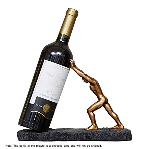 LIULAOHAN Estante de la Botella de Vino, Creativo Alta Hércules Adornos de...