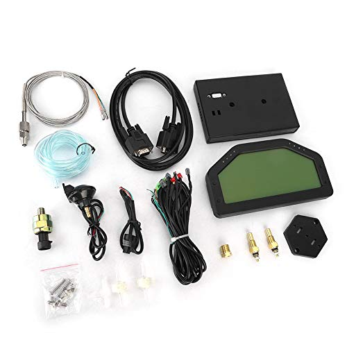 Qiilu Racing Car Refit Dashboard LCD Gauge Sensor Kit, Harness Connection DO908 Medidor multifunción