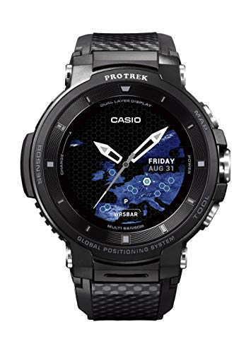 Casio Pro Trek Touchscreen Outdoor Smart Watch Resin Strap, Black, 27 (Model: WSD-F30-BK)