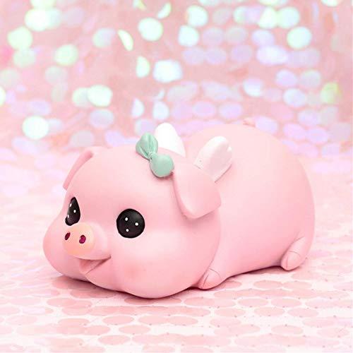 かわいい子豚の貯金箱 ギフトボックスコイン金 貯金 豚の置物 大きな貯金箱 マネー お金 おもちゃ 可愛い プレゼント (蝶結び)