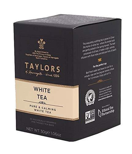 Taylors of Harrogate Té Bianco Puro & Calmante - 1 x 20 Bustine di Tè (30 Grammi)