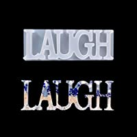 iSuperb アルファベット シリコンモールド 英字 LAUGH DIY 手作り エポキシ樹脂 レジン液 1セット キャンドル 石鹸 手芸用品 パーティー 装飾 結婚式 立体型 鏡面仕上げ ギフト (アルファベット)