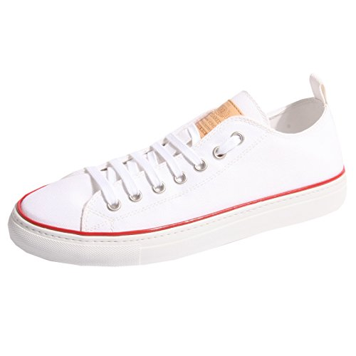 DSQUARED B0481 Sneaker Uomo Canvas D2 Scarpa BIANCA Shoes Men [40]