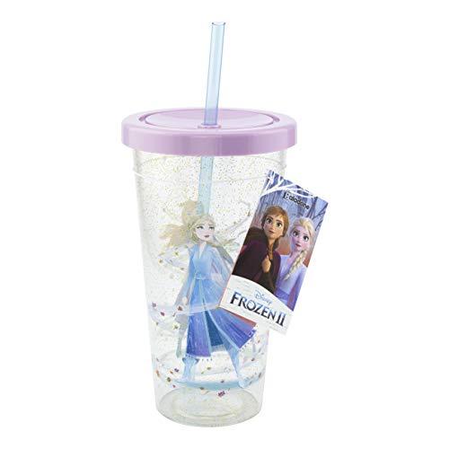 Paladone Frozen 2 tazas y pajita – Artículo perfecto para oficina, hogar o regalos – Producto oficial con licencia congelada Multi, 600 ml