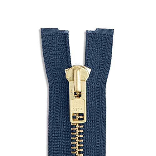 560 Navy Pack of 1 Zipper 30 Light Weight Jacket Zipper ~ YKK #5 Nylon Coil Separating Zippers