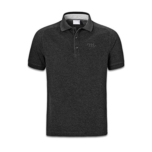 Audi collection 313170091 Audi Poloshirt, Herren, dunkelgrau, Grau, M