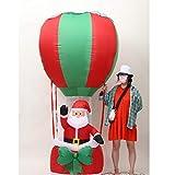 Hinchable Navidad Papá Noel Hinchable Santa Claus Inflable de Papá Noel al Aire Libre Navidad Decoración Casa para Jardín Casa Interior o Exterior