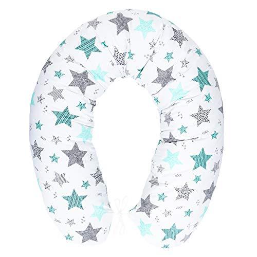 Cojín de lactancia con relleno, cojín para dormir de lado, cojín de embarazo para dormir de lado, cojín de algodón incluye funda tamaño 170 cm Pregnancy Pillow