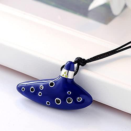 XCWXM Collares silbantes para Hombres y Mujeres, complementos de Moda, Colgantes imitando Blue_50cm
