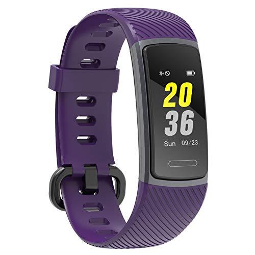 LETSCOM Fitness Armband mit Pulsmesser Wasserdicht, Kalorienzähler Schrittzähler Aktivitätstracker Uhr Schrittzähler Schlafmonitor, Farbbildschirm IP68 Wasserdicht für Kinder, Frauen und Männer