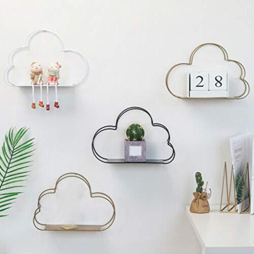 VijTIAN Estante Almacenamiento Pared Forma Nube, Ideal