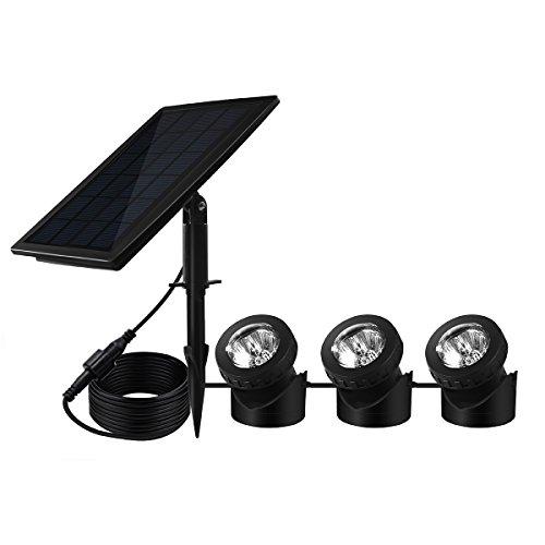 Benestellar Lampade LED ad Energia Solare Sommergibili esterne Lampade RGB che cambia Illuminazione dell'Ambiente per Esterno Decorazione subacquea per Stagno Giardino Esterno