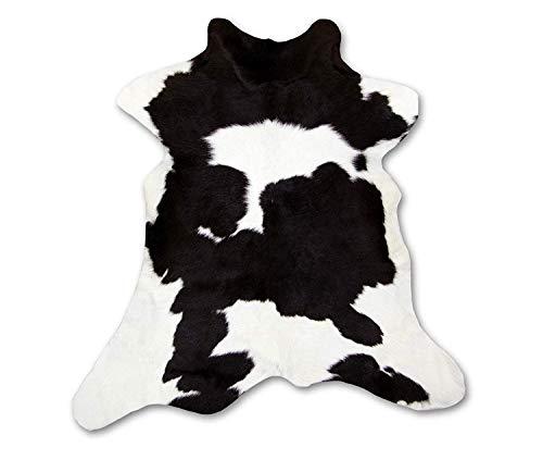 Zerimar Alfombra Piel de Vaca Becerro Natural | Medidas: 105x85 cm | Alfombra Salón | Alfombra Decoracion | Alfombra Dormitorio