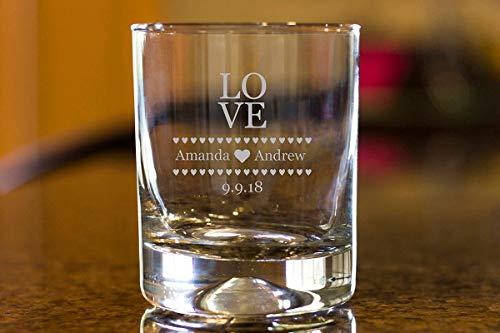 DKISEE Aangepaste Quote Whiskey Glas, Personaliseren Whiskey Glas, Bruiloft Gift, Grappig Zeggen voor haar 11 Ounce Dikke Gewogen Bodem Clear Wijnglas 11 oz G026