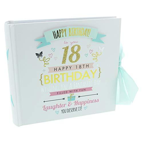 Fotoalbum zum 18. Geburtstag, 18 x 19,2 cm, für 80 Bilder, Pastell-Design, FL30018
