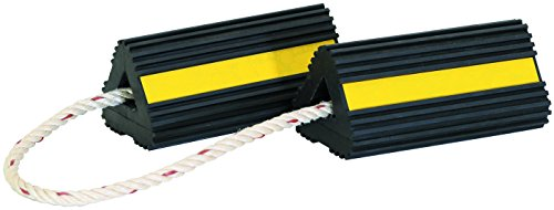 Buyers Products WC24483 Wheel Chock, Black/Yellow, 4 x 4 x 8 inches