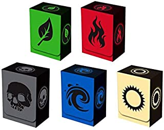 Set of 5 New Legion Absolute Deck Boxes for Magic/Pokemon/YuGiOh Cards (Incl. Red, Blue, Green, Black and White)