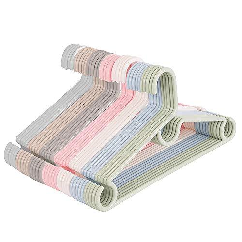 NgMik Eine Packung mit 20 einfarbigen Kunststoff-Kleiderbügeln im Kragenschutz-Design Aufbewahrung von Kleidung & Schränken (Color : Apricot, Size : 42 * 24cm)