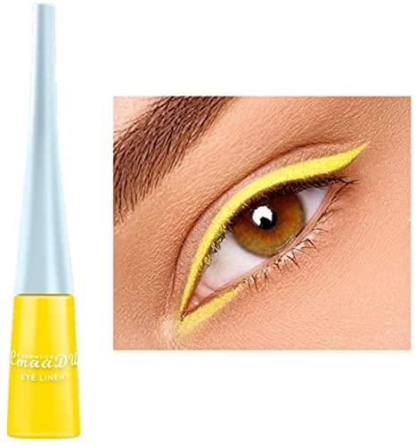 Liquid Eyeliner Matte Schnell trocknender Eyeliner, dauerhafter nicht blühender wasserdichter gelfarbener Eyeliner, Elf Candy Color Liquid Hochpigmentierter Eyeliner (Gelb)