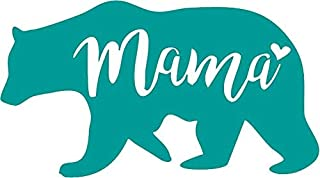 Family Connections Mama Bear MOM Mother Vinyl Decal Sticker for Window~Car~Truck~Boat~Laptop~iPhone~Motorcycle~Gaming Console~ Size 6