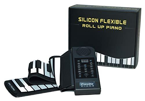 新型 Blue splash ロールアップキーボードピアノ 61鍵 128音&128リズム デモ演奏30種 MIDI端子付き 電子ロールピアノ 一ヶ月保証&日本語&英語取説付き。