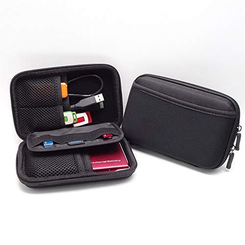 MUXItrade Reisetasche Elektronik organisator Tasche für Kabel, USB Sticks, speicherkarte, Schwarz