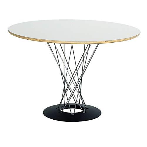 イサムノグチ サイクロンテーブル はば105 幅105cm ダイニングテーブル ホワイト(白) オリジナルと同じPLYWOOD成型合板使用 デザイナーズ リプロダクト 丸テーブル おしゃれ