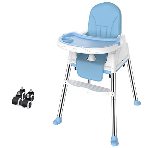 H.yina Kinder esszimmerstuhl Tragbarer Esstisch Sitz Multifunktionshaushaltsklappstuhl Babyessen Stuhlhöhe Verstellbarer Tisch mit DREI Positionen DREI Geschwindigkeiten Verstellbar mit Riemenscheibe