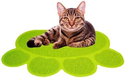 discount Jumbl 2021 Cat new arrival Litter Mat Catcher - Smartgrip Paw-Shaped Grass-Like Material Traps Catches Litter - 1 Year Warranty - 24 x 18 outlet online sale