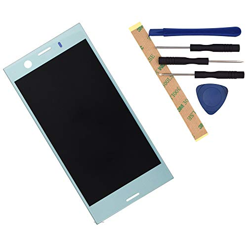 G8441 LCD Display Digitizer Touch Screen Assembly Replacement for Sony Xperia XZ1 Compact Horizon Blue with Frame Adhesive[ Without Frame ]