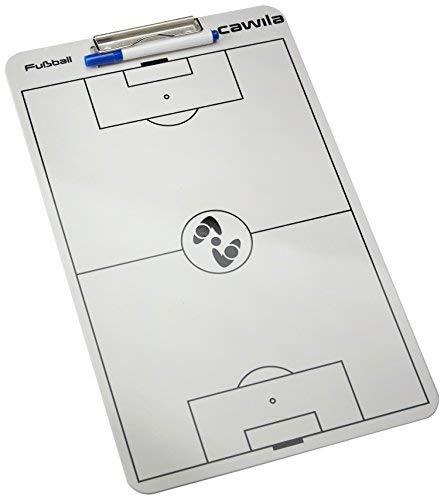 Cawila Klemmbrett Clipboard Fußball, Weiß, 00401701