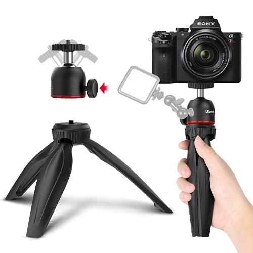 Ulanzi Mini Trípode Portátil Minitrípode Movíl Trípode cámara Trípode proyector con Soporte de Cabeza de Bola Tripodes pequeños para teléfono móvil, Cámara DSLR, Proyector
